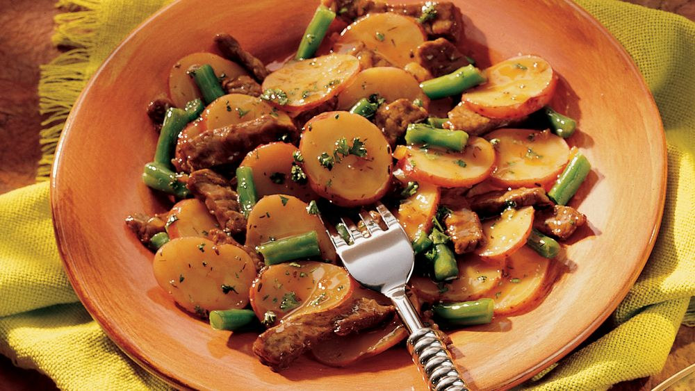 Skillet Beef and Green Beans
