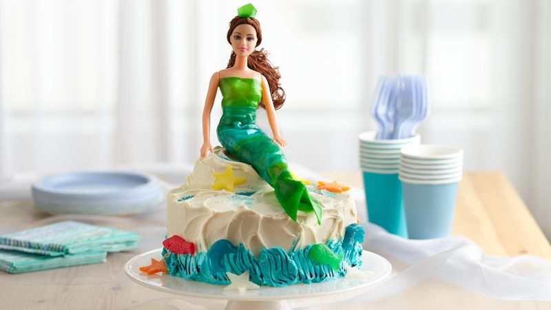 Mermaid Cake Recipe BettyCrockercom