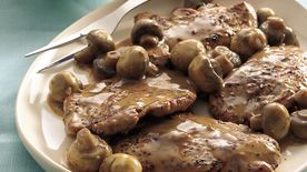 Peppered Pork Medallions in Tangy Mushroom Sauce