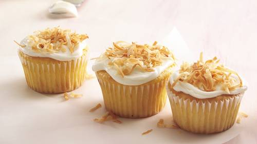 Double-Coconut Cupcakes image