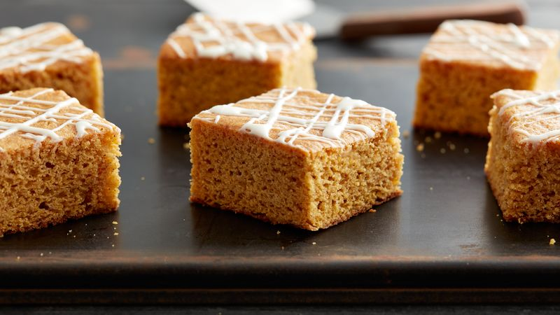 Pumpkin Blondie Cake-Mix Bars
