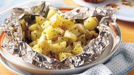 Grilled Cheesy Garlic Potato Foil Pack