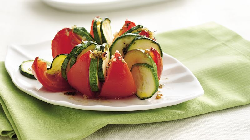 Baked Tomatoes with Zucchini