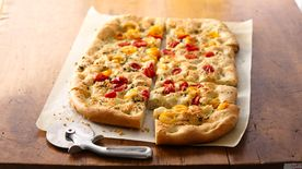 Grape Tomato and Oregano Focaccia
