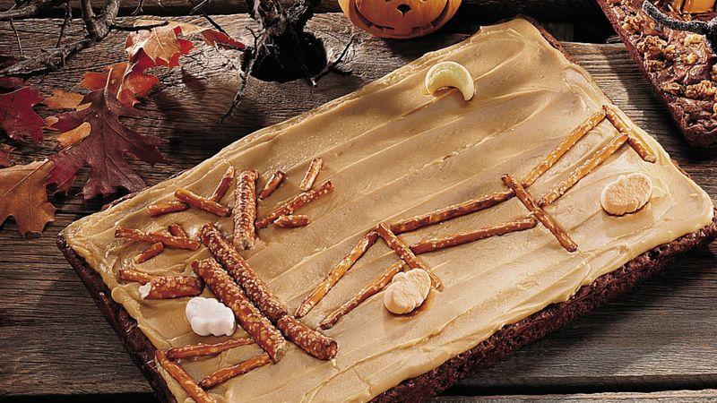 """Scary Night"" Caramel Brownies"