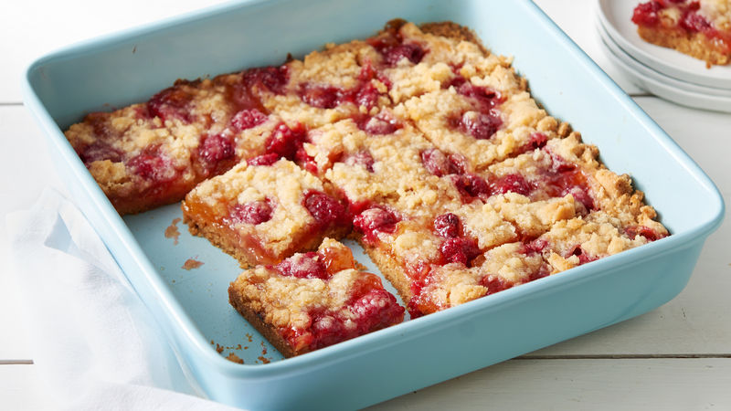 Peach Melba Crumble Bars