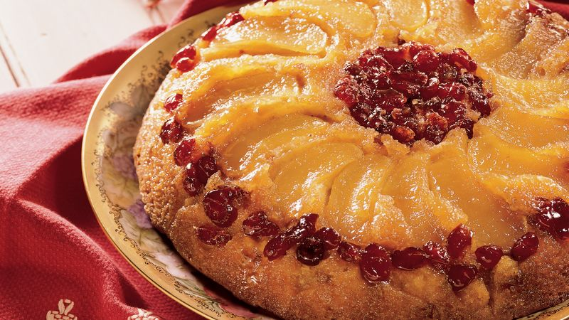 Apple Cranberry Upside-down Cake