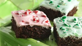 Frosted Peppermint Brownies