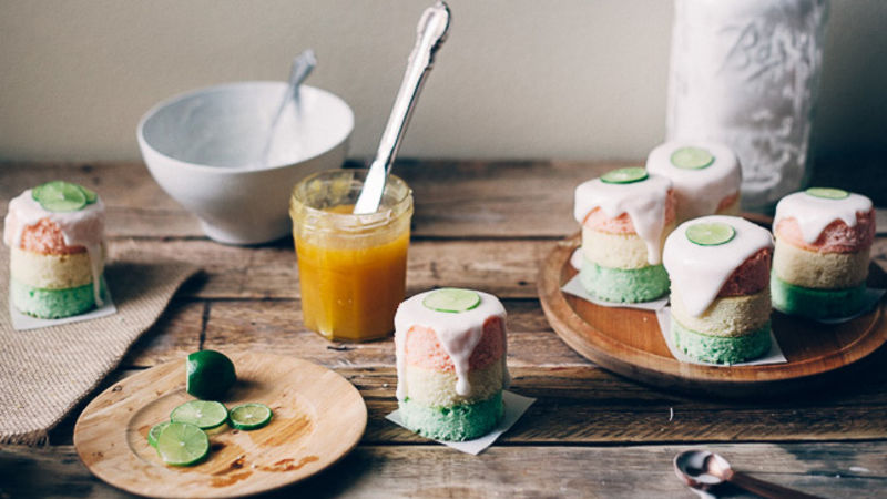 Layered Citrus Mini Cakes