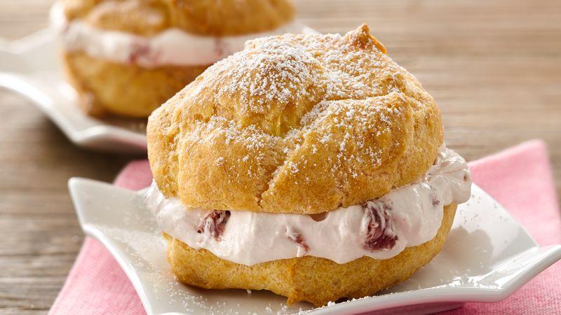 Strawberry Cream Cheese Cream Puffs