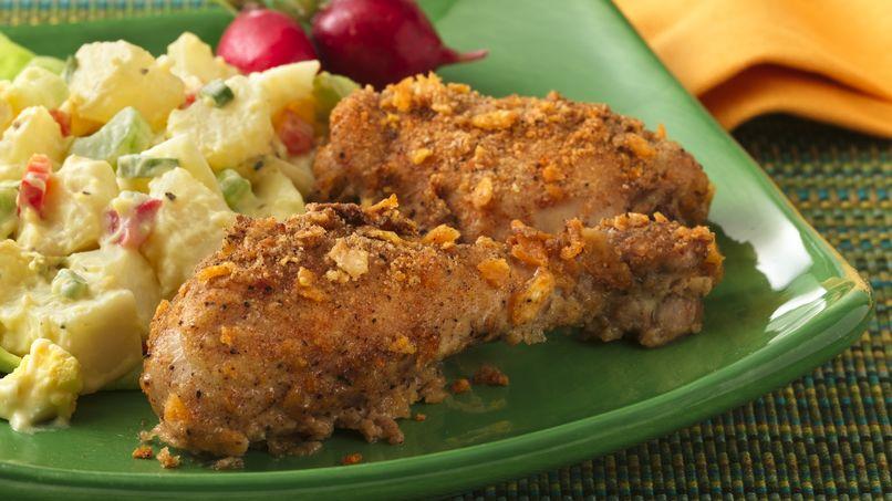 Pollo Crujiente y Frito al Horno con Leche Buttermilk