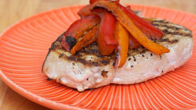 Grilled Swordfish with Peppers