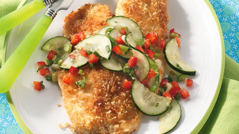 Tilapia with Cucumber Salad