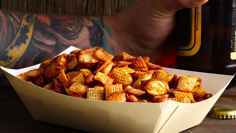 Sweet and Spicy Beer Nuts Chex Mix