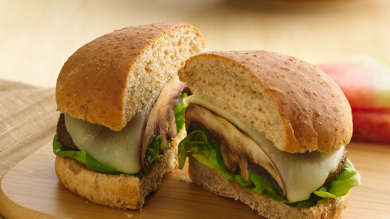 Portabella Mushroom Burgers Recipe Bettycrocker Com