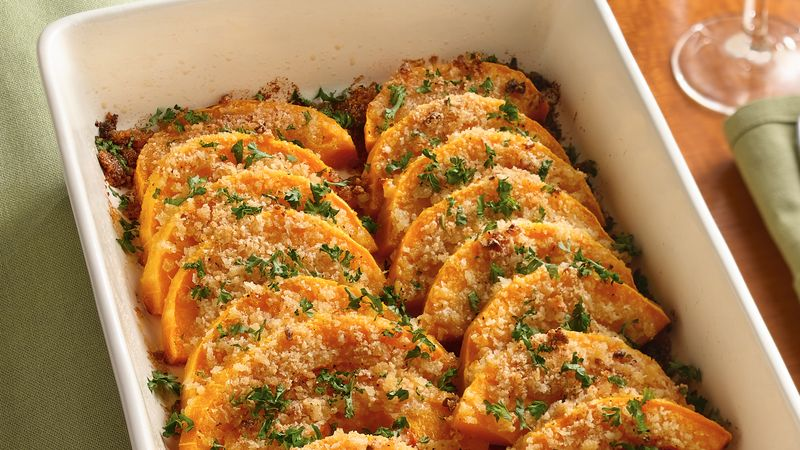Parmesan Butternut Squash Gratin Recipe Bettycrocker Com