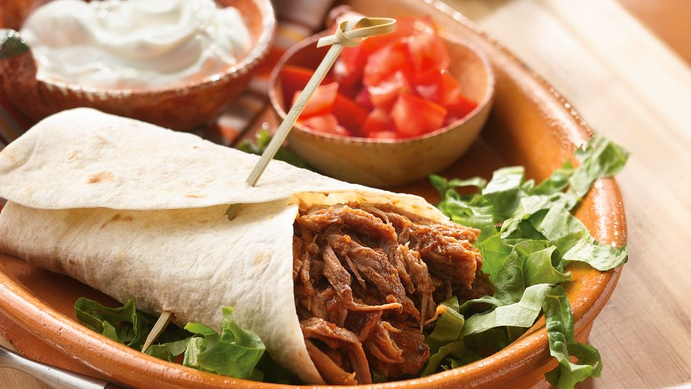 Slow-Cooker Southwestern Pork Burritos