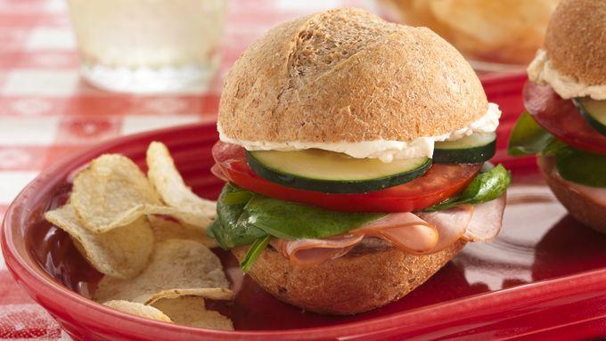 Garden Party Turkey Sandwiches