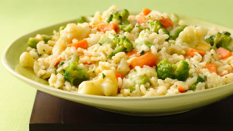 Cheesy Vegetable Risotto