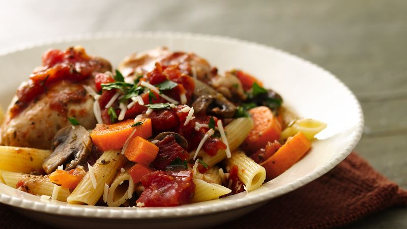 Slow Cooker Rustic Italian Chicken Recipe Tablespoon Com