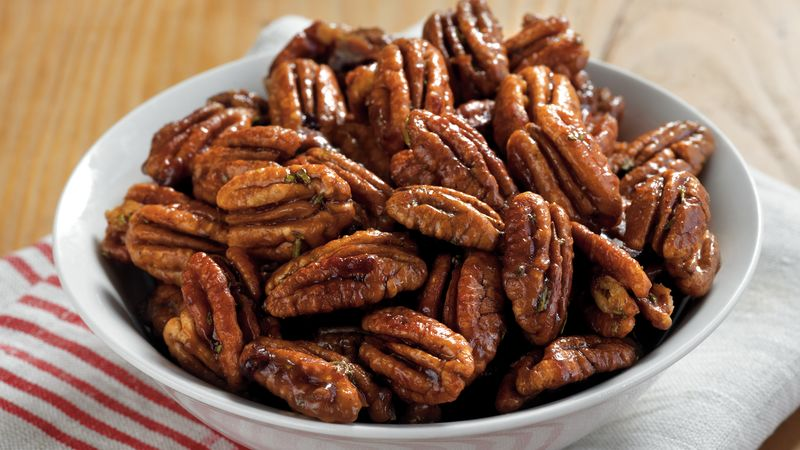 Rosemary Brown Sugar Pecans Recipe Bettycrocker Com