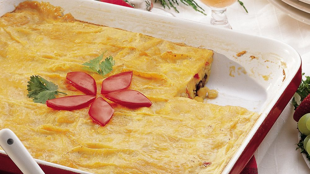 Black Bean and Corn Enchilada Egg Bake
