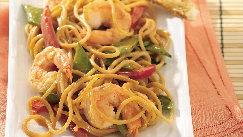 Cold Thai  Noodles with Shrimp