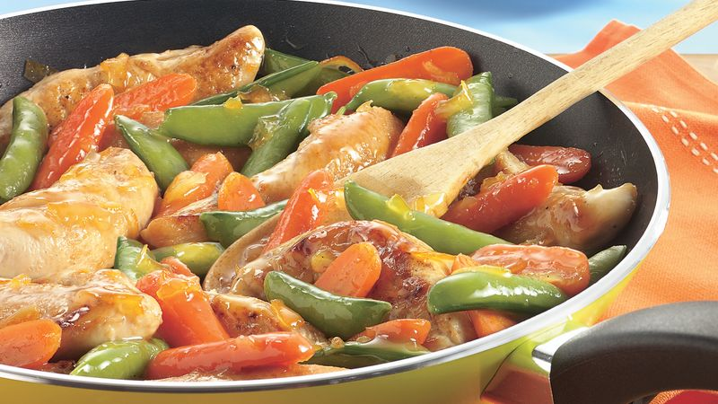 Orange-Glazed Chicken Skillet