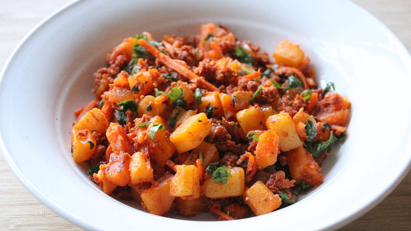 Potato Picadillo with Chorizo