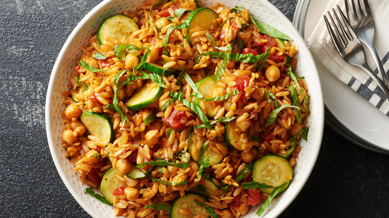 One-Pot Lemon-Basil Orzo and Vegetables