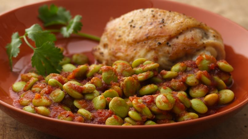 Baby Lima Beans in Chipotle sauce