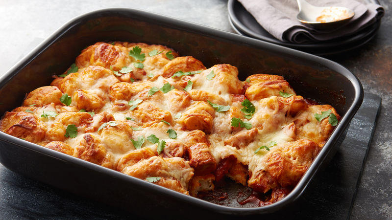 barbecue chicken bubble up bake recipe pillsbury com