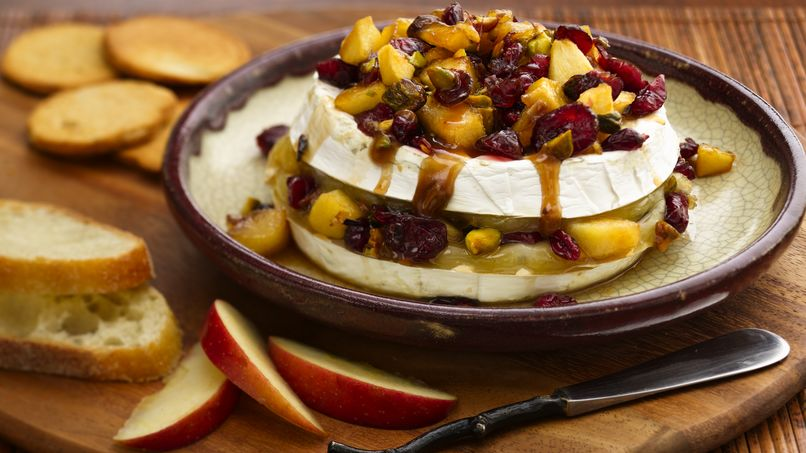 Caramel Apple Baked Brie