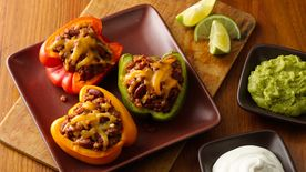 Mexican Beef- and Bean-Stuffed Peppers