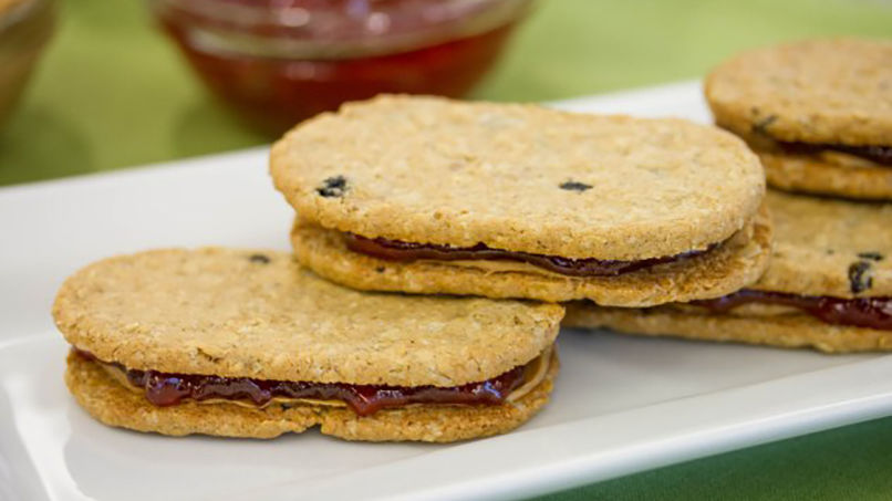 PB and Jelly Blueberry Biscuit Sandwich