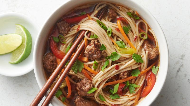 Beef Soba Noodle Soup