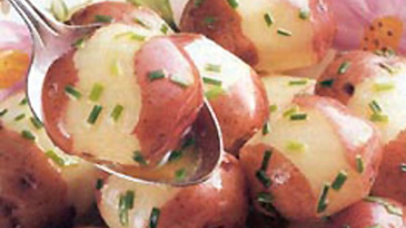 New Potatoes with Chive Butter