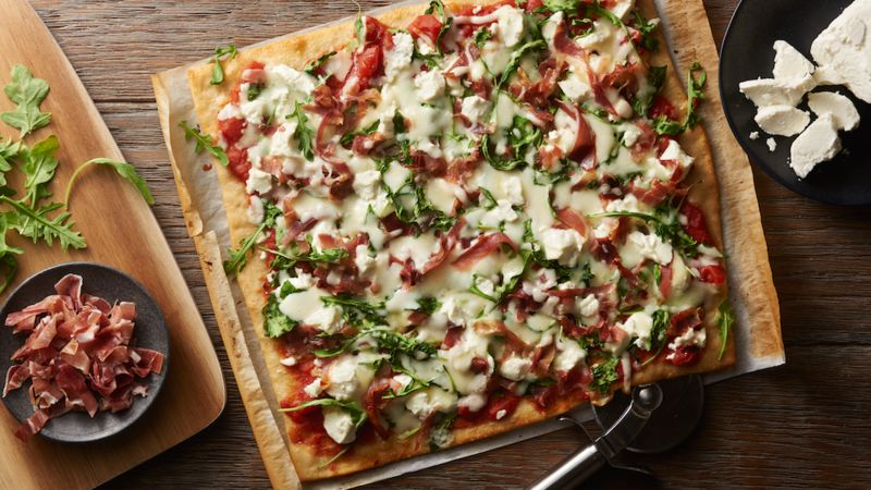 Prosciutto and Goat Cheese Pizza