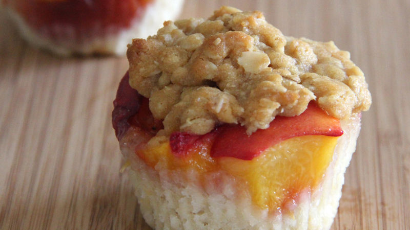 Mini Ginger Peach Cobblers