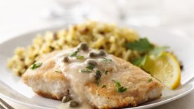 Cobia with Lemon Caper Sauce