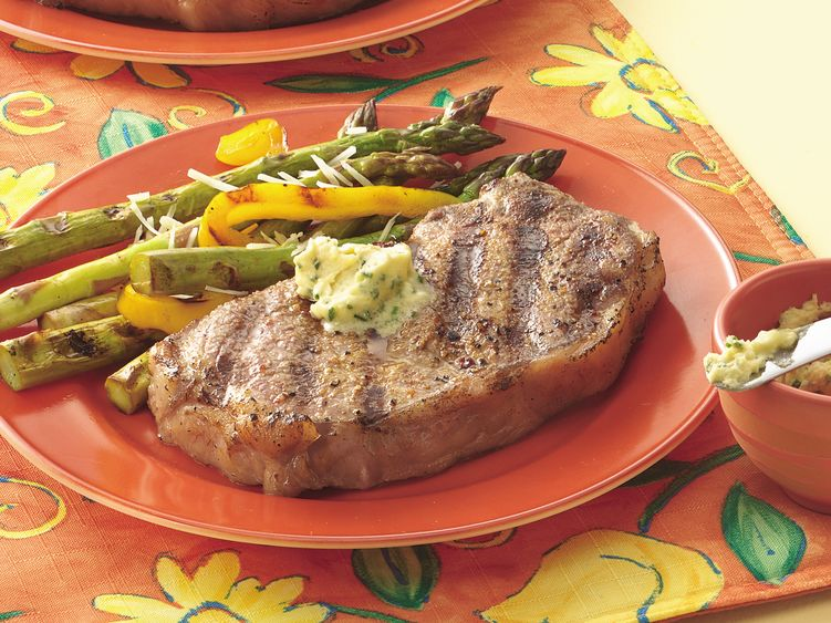 Pepper-Garlic Strip Steaks