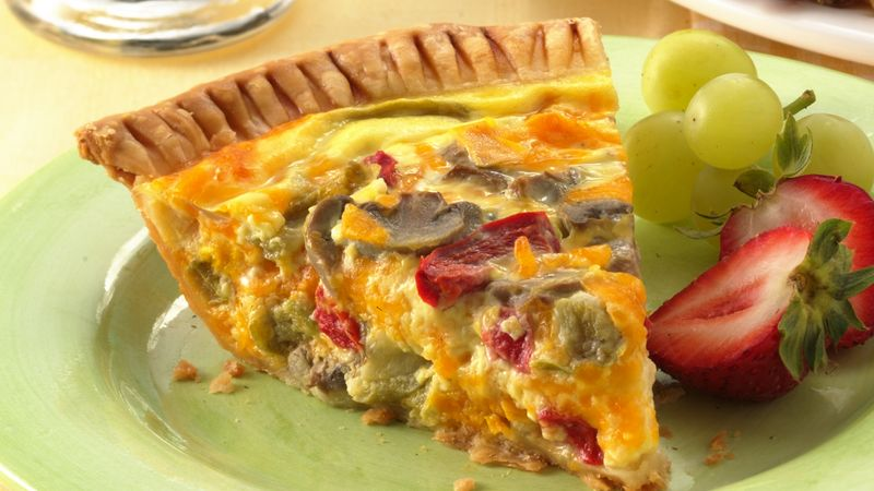 Vegetable Cheddar Quiche Recipe Pillsbury Com