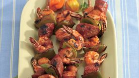 Grilled Shrimp and Sausage Kabobs