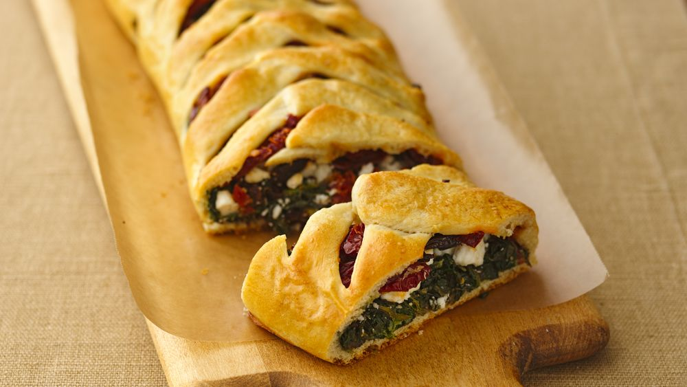 Tuscan Splendor Spinach Braid