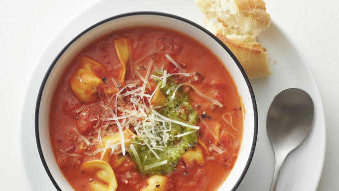 Slow-Cooker Creamy Tomato and Tortellini Soup