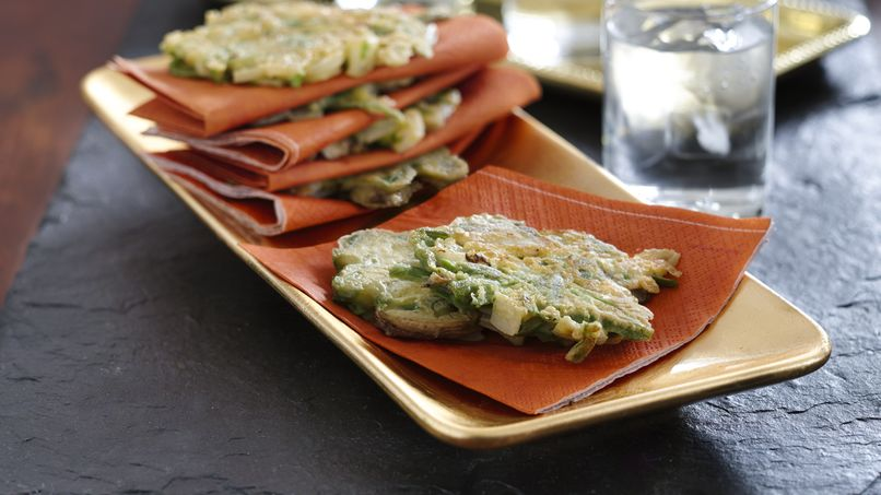 Green Bean and Mushroom Fritters