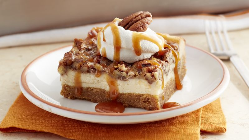 Pumpkin Pecan Cheesecake Cookie Bars Recipe Bettycrocker Com