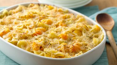 Baked Bow-Tie Pasta and Winter Squash