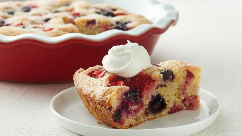 Gâteau facile triples petits fruits