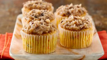 Carrot Cupcakes with Coconut Pecan Frosting